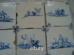 17/18th century delft handpainted dutch nice rare tiles