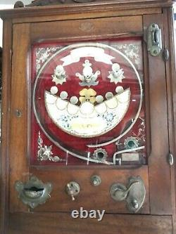 1910 Antique Coin Operated Machine, Game, Slot, RARE! Penny Slot Nice! Works