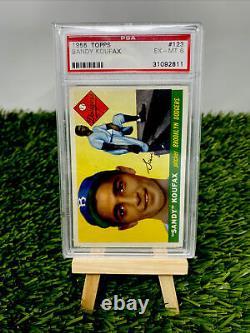 1955 Topps #123 Sandy Koufax Brooklyn Dodgers Ex-MT PSA 6 Nice Eye Appeal Rare