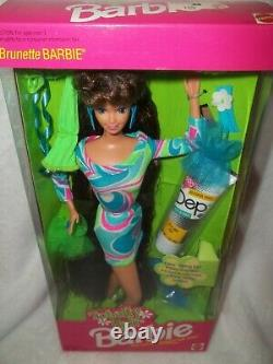 1991 Rare Vintage Totally Hair Brunette Barbie #1117 Priced To Sell. Very Nice