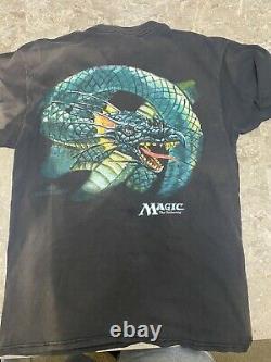 1996 Vintage RARE Magic The Gathering Nice Man Shirt All Over Print Size L