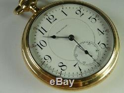 3-STAR WALTHAM RAILROAD STANDARD 19J 18s POCKET WATCH EXTREMELY RARE & NICE