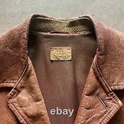 30s Vintage Cresco Leather Jacket Small car coat jacket NICE 40s 50s RARE