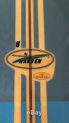 8 Hansen Master Surfboard, rare! Nice