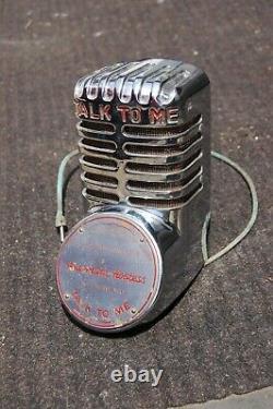 AMI Automatic Hostess Microphone, RARE Talk To Me Antique Chrome Mic 1940 Nice