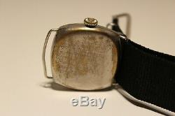 ANTIQUE WW1 ERA RARE TRENCH NICE MECHANICAL MEN'S UNBRANDED OVERSIZE 37mm WATCH