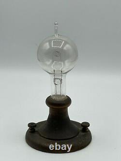 Antique 1914 Edison Light Bulb Original Commemorative Desk Display Rare & Nice