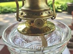 Antique B&H Kerosene Oil Lamp Dtd 1870 Rare Lomax Font, Real Beauty! Super Nice