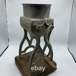 Antique Chandler's Ice Cutting Machine Patent 1880 Nice Wooden Base! Rare