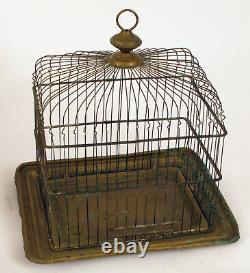 Antique Copper Victorian Birdcage Bird Cage Pet Canary Finch Nice Design Rare