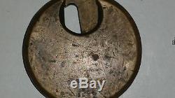 Antique D. K. Miller Lock Co. Internal Revenue Brass Lock & Key NICE RARE IRS
