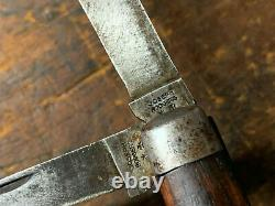 Antique Joseph Rodgers Twin Blade Pocket Knife Sheffield Rare! Nice