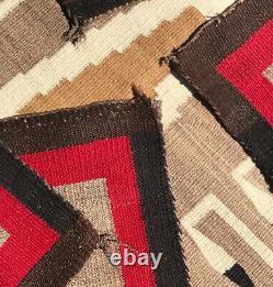 Antique, Navajo, Whirling Log, Saddle-sized Blanket, Nice, Rare, Old, Beautiful