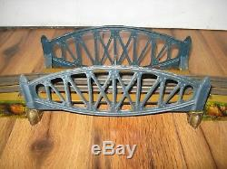 Antique Prewar Marklin Tin Train Bridge Rare German O Gauge Vtg Nice Litho Bing