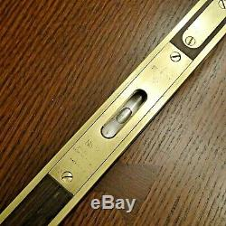 Antique Rare Stanley No 98 Brass Bound 12 Level and Plumb Very Nice Restored