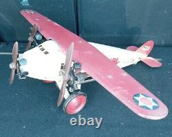 Antique Rare Steelcraft Us Mail Plane Nx131 Pressed Steel Airplane Toy Nice