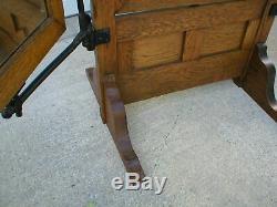 Antique Rare Tri-fold Tailor Dressmaker Mirror 1912 Oak very nice, super