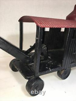 Antique Steam Shovel Crane Metal Marion Toy Super Rare! Nice Piece