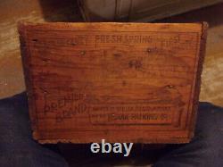 Antique VTG ALASKA SALMON WOOD BOX CRATE kodiak Packing co RARE HOME DECOR NICE