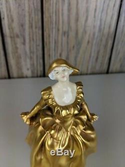 Antique/VTG Royal Doulton Harlequinade Figurine H. N. 635 HN635 Gold Rare nice