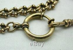 Antique Very Early Rare Link Heavy Very Nice Rolled Gold / Gold Pinchbeck Chain