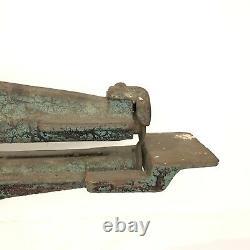 Antique Vintage RARE Nice Working Leather Cutter Machine/Shoe Maker/Decor