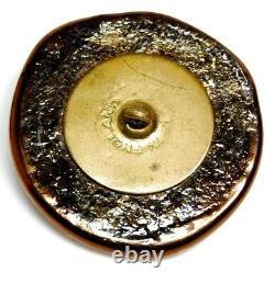 Antique Vtg Button RARE X-Large Bimini Glass ACORN England NICE! #H