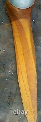 Antique Wood Propeller 44 PRATT & WHITNEY Airplane RARE Nice