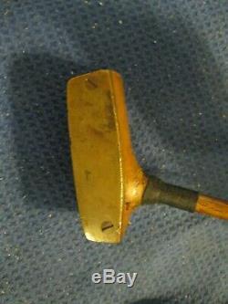 Antique Wood Shaft Spalding J. Hagen Travis Wood Mallet Putter Very Nice RARE
