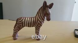 Arabia brown stripe Zebra made in Finland Super Rare Antique Super Nice