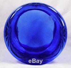 Blue Royal Lace Cookie Jar & Lid Hazel Atlas Depression Glass Vintage Rare Nice