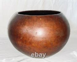 Ca. 1910 Dirk Van Erp & D'Arcy Gaw Hammerd Copper Round Vase Pot RARE RARE NICE