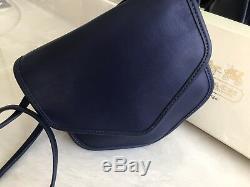 Coach Rare Vintage Sapphire Blue Megan Crossbody Limited Edition Euc Nice