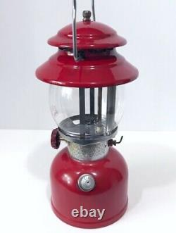 Coleman 200A Red 1/74 Single Mantle Rare Vintage Camping Lantern VERY Nice Vent