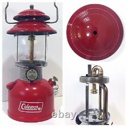 Coleman 200A Red 7/74 Single Mantle Rare Vintage Camping Lantern VERY Nice Vent