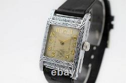 EVERBRITE Watch Hafis Movement Art Deco RARE Nice Watch Working (2698)