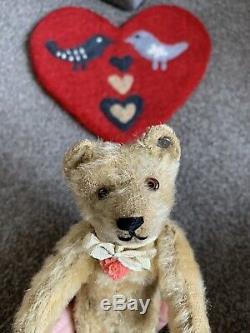 Early RARE Mohair Antique Steiff Bear 8 Long f Ff Button LOOK So NICE! No Res