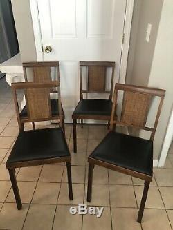 Four Vintage Leg-o-matic Folding Wood Chairs Airstream Rv Retro Nice Rare