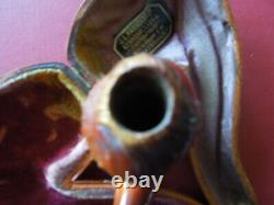 J2810 Antique Dutch Amber Pipe Pope Very Nice Carved Rare See Decrip