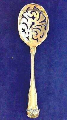 Kirk king sterling silver all silver pea spoon slotted super rare and super nice