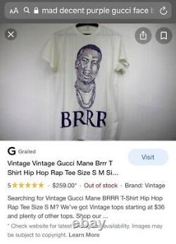 MAD DECENT GUCCI MANE BRRR DIPLO RARE T Shirt Vintage Only One Exclusive Worn