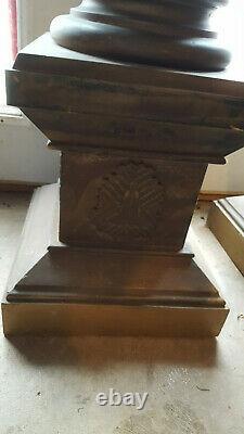Masonic temple lodge columns pillars nice rare antique set withglobes