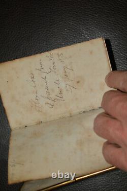 NICE 19TH CENTURY SAILOR MADE Scrimshaw Bible Id'd Capt RARE Estate Fresh