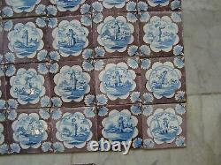 Nice 18th century delft handpainted dutch nice rare tiles (39)