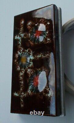 Nice Mid Century 60's 70's Front Cabinet Handle Art Pottery Aluminium. RARE