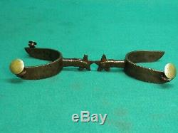 Nice Old Antique Pair Of- K & C Kelly And Crockett Very Rare Marked Spurs