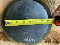 Nice Old Rare Seasoned Cast Iron Wagner Ware Sidney-o 10 Chef Skillet #1388
