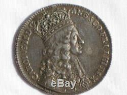 Nice Original Rare King Charles II, Coronation 1661, Official Solid Silver Medal