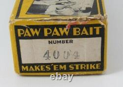 Nice PAW PAW Vintage OLD CHUB Red & White SUCKER Minnow LURE In CORRECT BOX Rare
