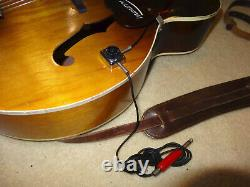 Nice Rare Vintage 1955 Harmony H39 Electric Archtop Acoustic Guitar